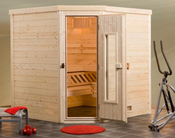 Weka Sauna Turku 3 45mm ohne Saunaofen mit Holztür