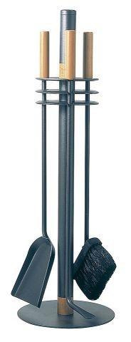 Kaminbesteck / Kamingarnitur Lienbacher rund anthrazit 3-tlg. H 65cm