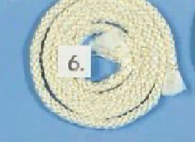 Ofendichtschnur / Ofendichtung 1 mtr. Ø 6 mm umsponnen