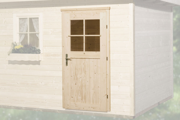 Gartenhaustür für Wandstärke 45 mm 182x97cm