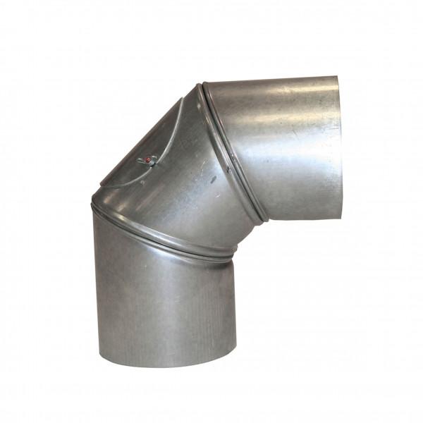 Ofenrohr / Rauchrohr KaminoFlam FAL Bogeknie 90° Ø120mm 3tlg. mit Tür