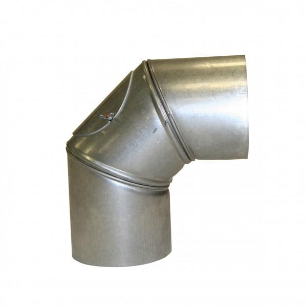 Ofenrohr / Rauchrohr KaminoFlam FAL Bogenknie 90° Ø150mm 3tlg. mit Tür