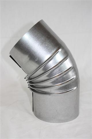 Ofenrohr / Rauchrohr FAL Bogenknie 45° Ø80mm ohne Tür