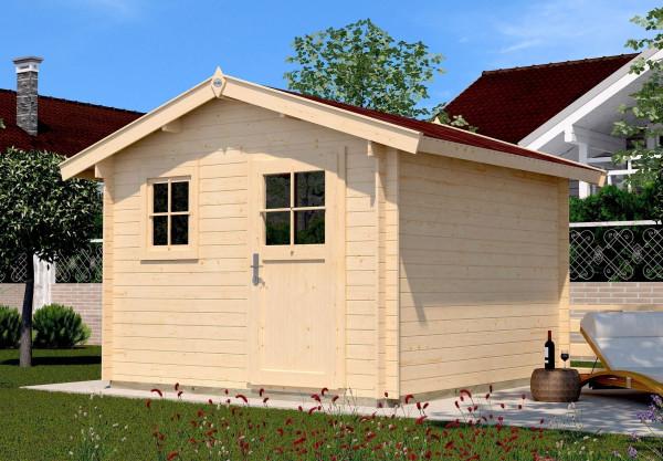 Weka Blockbohlenhaus 28 mm Gartenhaus Premium28FT natur 380x280cm