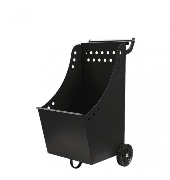 Holzkorb / Holzwagen Lienbacher schwarz beschichtet 40x42x84cm