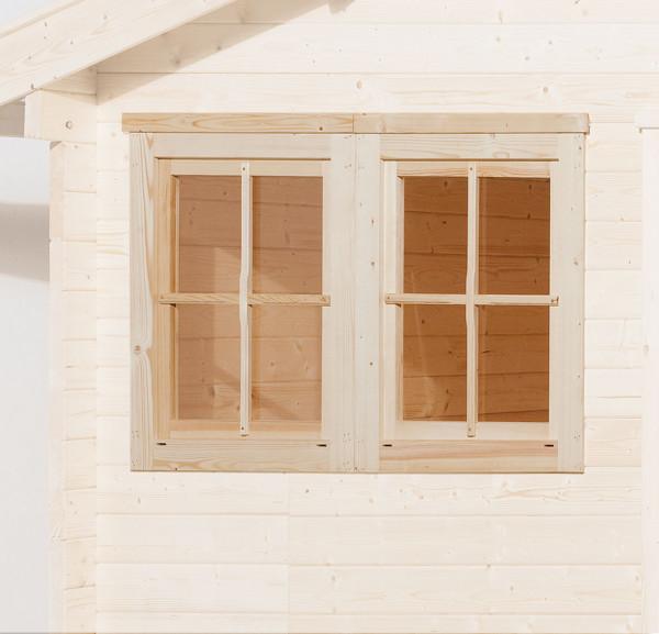 Gartenhausfenster für Wandstärke 21 - 28 mm 138x79cm