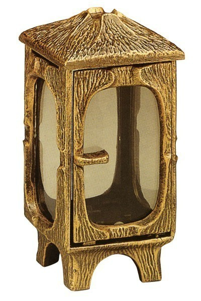 Grableuchte / Grablaterne Noah 22 cm mit Parsol Bronze Glas