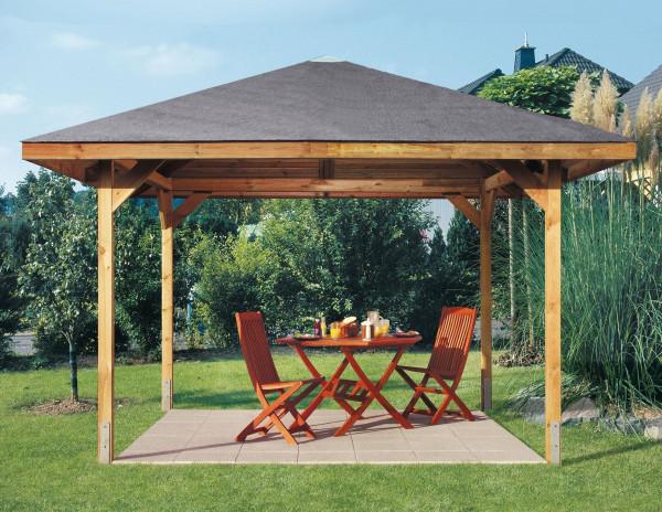 Weka Holzpavillon Gartenoase 651 Gr.3 kdi 380x380cm