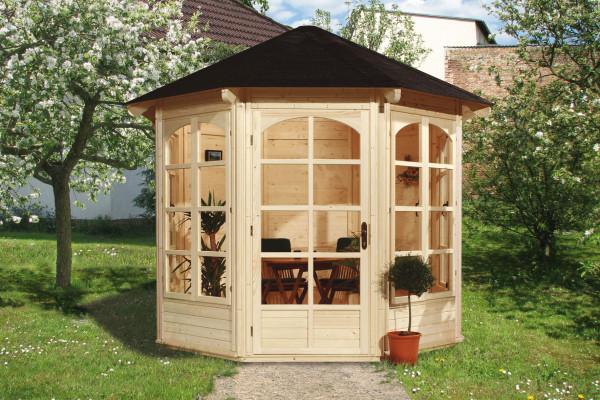 Weka Gartenlaube / Pavillon 234A natur 336x365cm 4 Fenster