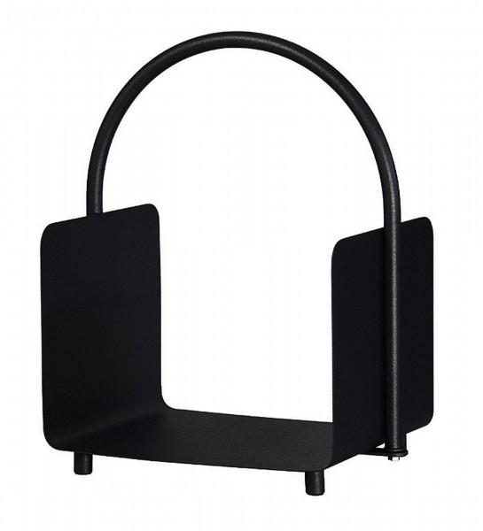 Holzkorb / Holzlege Lienbacher schwarz beschichtet 37x30x51,5cm
