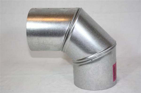 Ofenrohr / Rauchrohr FAL Bogenknie 90° Ø 130mm 3 tlg. ohne Tür