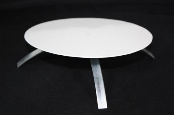 Kaminlochdeckel weiß beschichtet mit Isolierung 160mm bis 180mm