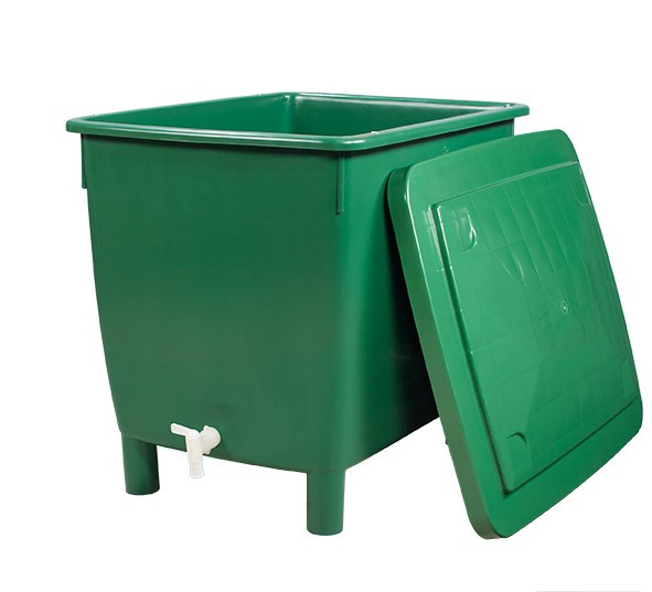 Regentonne eckig 210 Liter grün GARANTIA 501201