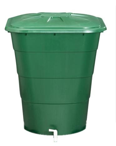 Regentonne eckig 203 Liter grün GARANTIA 501205
