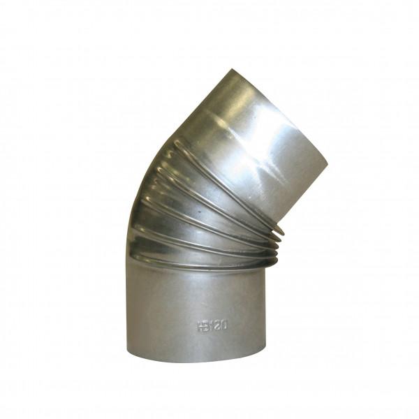 Ofenrohr / Rauchrohr KaminoFlam FAL Bogenknie 45° Ø120mm ohne Tür