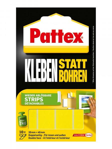 Pattex Kleben statt Bohren Klebe-Strips 10 Strips á 4x2cm