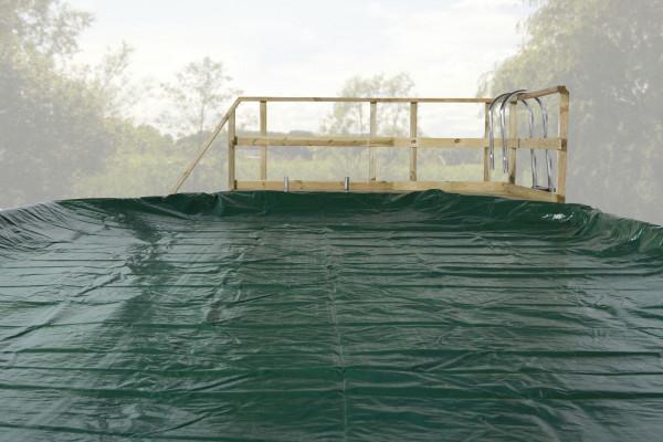 Abdeckplane für Weka Pool 593 A und B Gr.1 grün 376x476cm