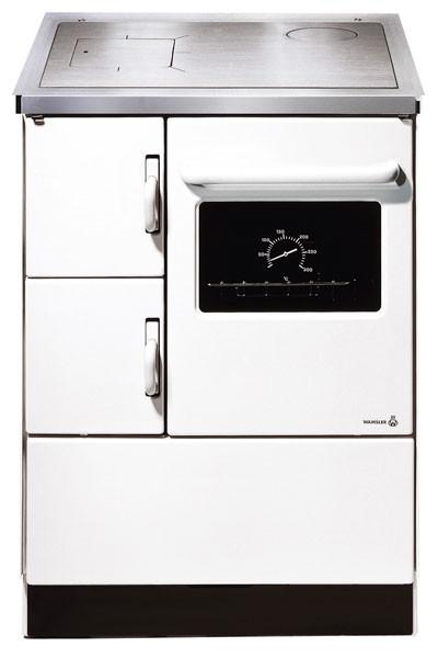 Küchenherd / Kohleherd Wamsler K118 weiß Stahlkochfeld Anschluß rechts