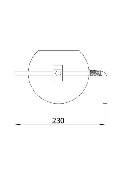 Drosselklappe stahlblank 200 mm