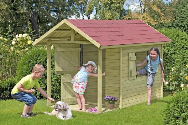 Spielhaus / Kinderspielhaus Andy mit Terrasse 150x240x160cm