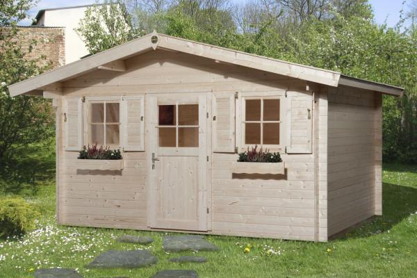 Weka Gartenhaus 28 mm 110 Gr.2 natur 460x450cm