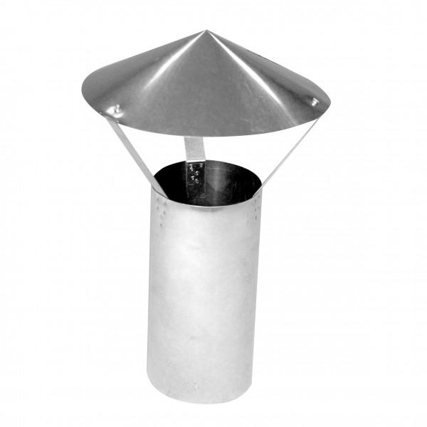 Ofenrohr / Regenhaube KaminoFlam FAL rund mit Rohrstück 120mm