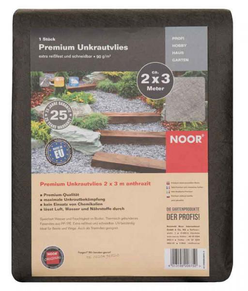 Unkrautvlies / Trennvlies Premium Noor dunkelgrau 2x3m