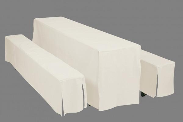 Doppler Hussen / Auflagen Set für Bierzeltgarnitur 50cm natur