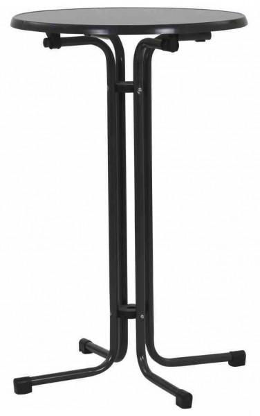 Kurz Stehtisch klappbar Ø 70 cm eisengrau Stahl
