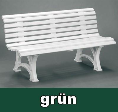 Gartenbank 3 Sitzer Helgoland / Neptun dunkelgrün Kunststoff