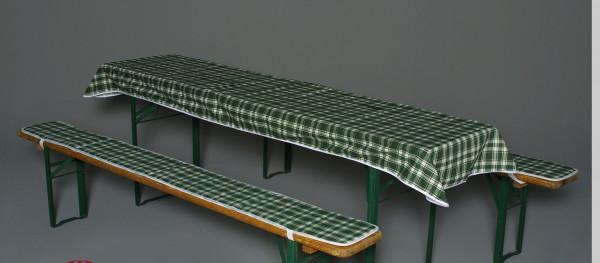 Doppler Auflagen für Bierzeltgarnitur / Festzeltgarnitur 50cm grün