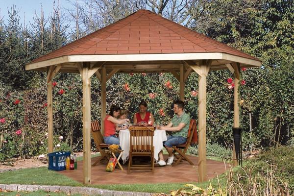 Weka Gartenlaube 656 Gr.2 Pavillon kdi 399x461cm