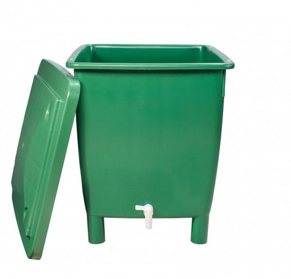 Regentonne eckig 400 Liter grün GARANTIA 501202