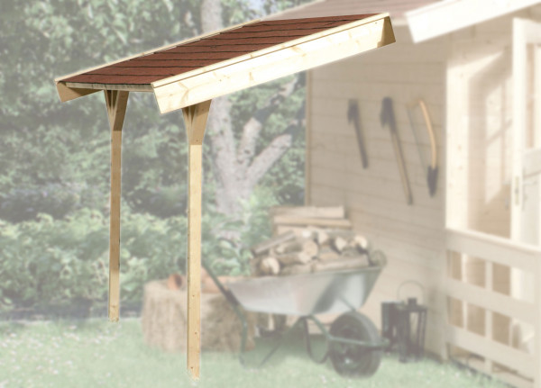 Schleppdach zu Weka Gartenhaus 28 - 45 mm natur 120x330cm