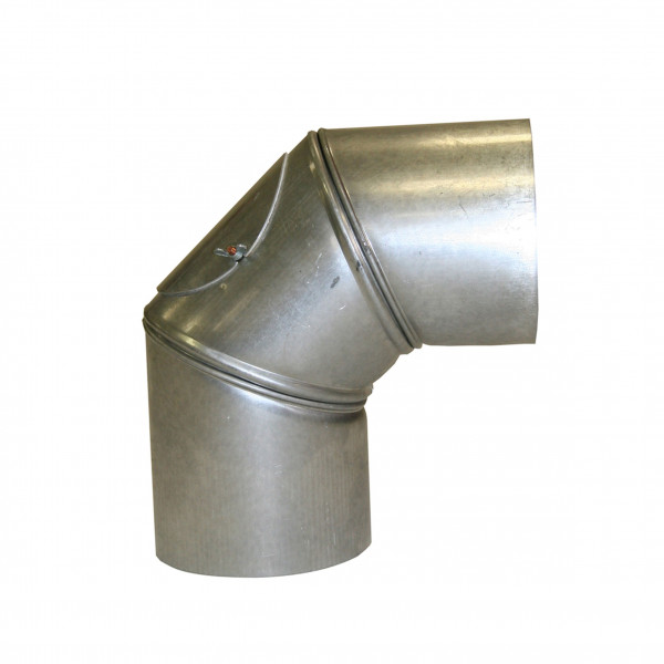 Ofenrohr / Rauchrohr FAL Bogenknie 90° Ø130mm 3tlg. mit Tür