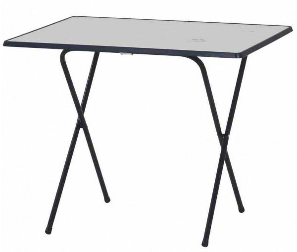 MFG Campingtisch klappbar eckig 60 x 80 cm dunkelblau Kunststoff