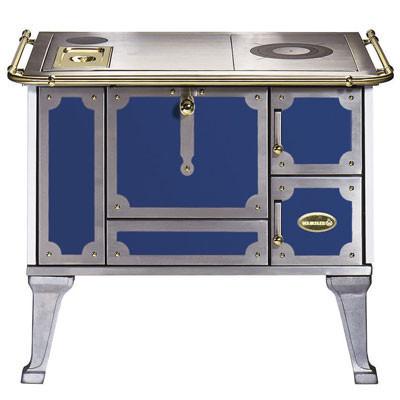 Küchenherd / Kohleherd Wamsler K138J blau Stahlkochfeld Anschluß links