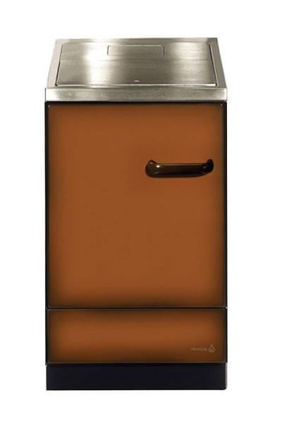 Küchenherd / Kohleherd Wamsler K155S maron Stahlkochfeld