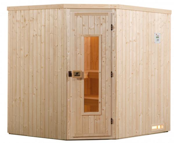 Weka Sauna Varberg 3 68mm ohne Saunaofen mit Holztür
