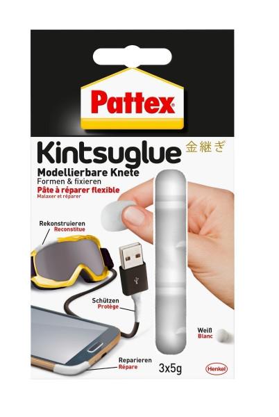 Pattex Kintsuglue flexible Knete weiß 3x 5g