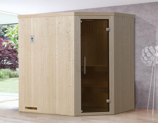 Weka Sauna Varberg 1 68mm ohne Saunaofen mit Glastür