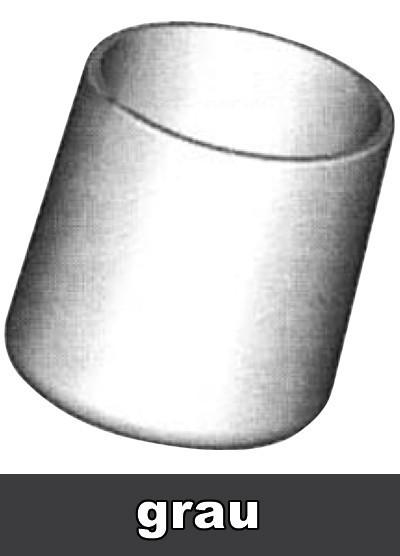 SIEGER Fußkappen Set Gartentisch Ø 25 mm grau