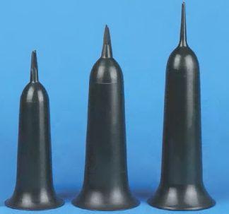 Grabvase breite Form Tulpe grün 37 cm