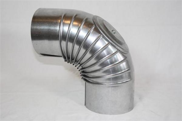 Ofenrohr / Rauchrohr FAL Bogenknie 90° Ø80mm mit Tür