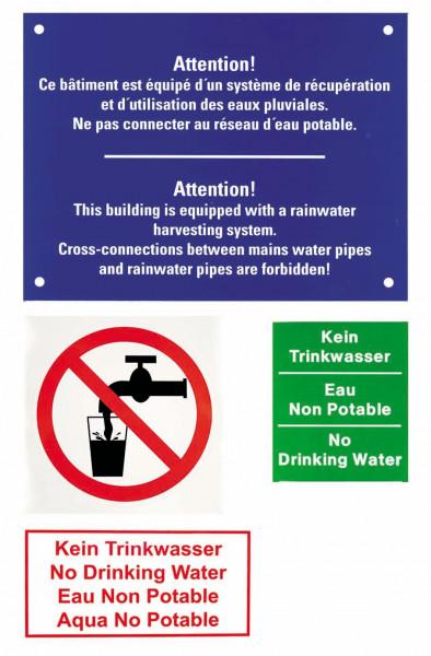 Beschriftungsset für Regenwassernutzungsanlagen GRAF GARANTIA 330122