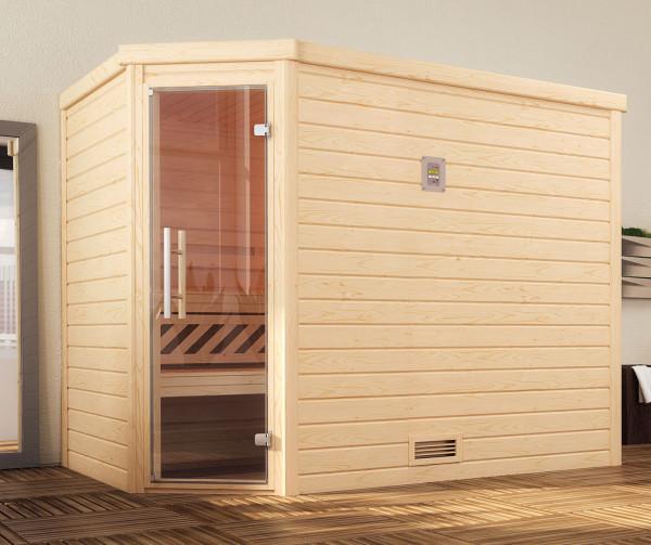 Weka Sauna Turku 3 45mm ohne Ofen mit Glastür