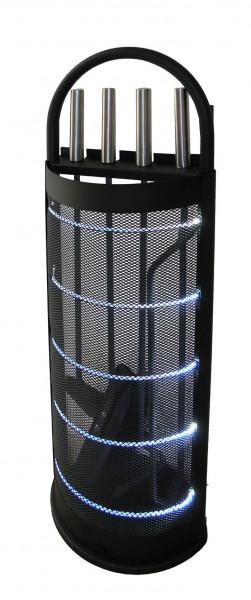Kaminbesteck / Kamingarnitur LED Lienbacher 4-tlg. schwarz 66cm