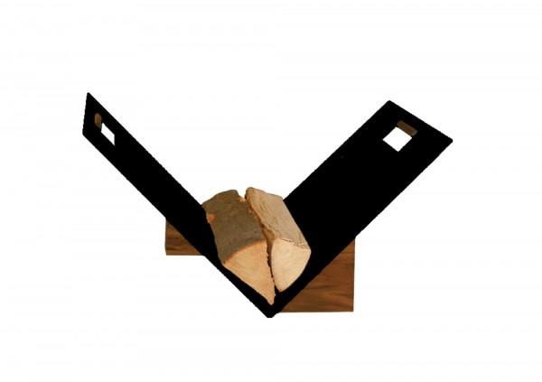 Holzkorb / Holzlege Lienbacher schwarz beschichtet 60x38x44cm