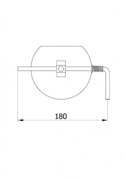 Drosselklappe stahlblank 150 mm