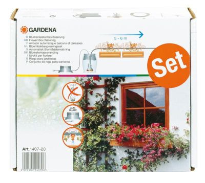 GARDENA Vollautomatische Blumenkastenbewässerung 01407-20